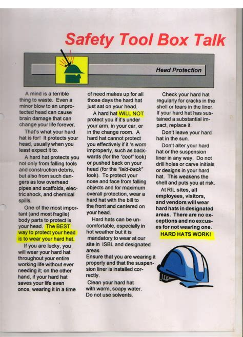 safety toolbox template simple safety toolbox talk material