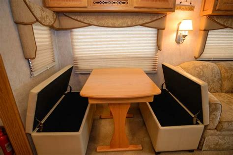 boat bench seats that fold into a bed rv storage tip making space getting organized in an rv