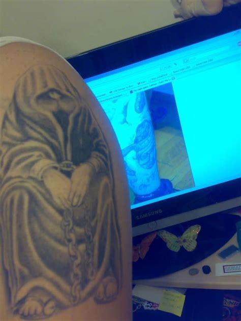 barcode tattoo athens my dark prisoned monk tattoo
