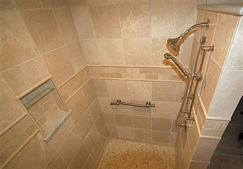 tile shower without door walk in shower design ideas photos and descriptions