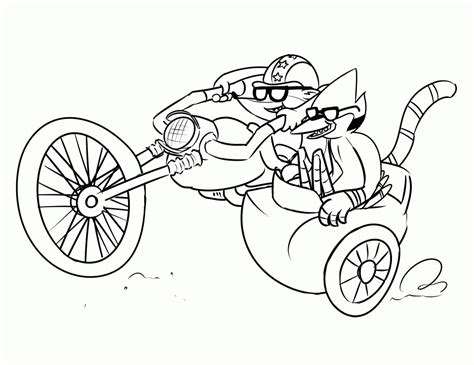printable coloring pages regular show regular show coloring pages coloring home