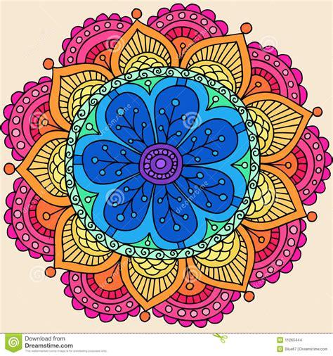 doodle lã sung vector psicod 233 lico de la flor doodle de la mandala de