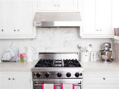 White Cabinets With Brushed Nickel Hardware by Kitchen With Pink Accents Transitional Kitchen