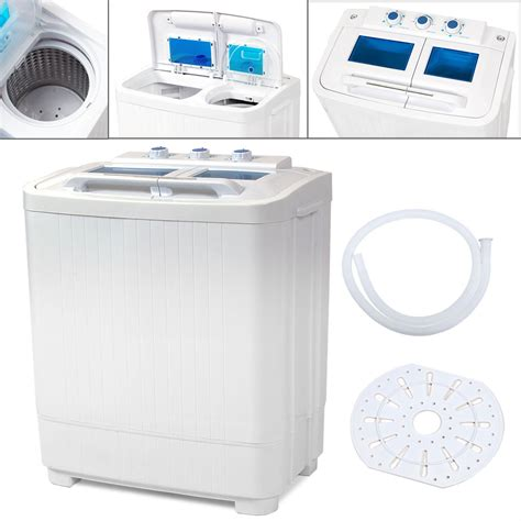 Portable Washing Machine Compact Wash Spin Dry Cycle Washing Machine Laundry