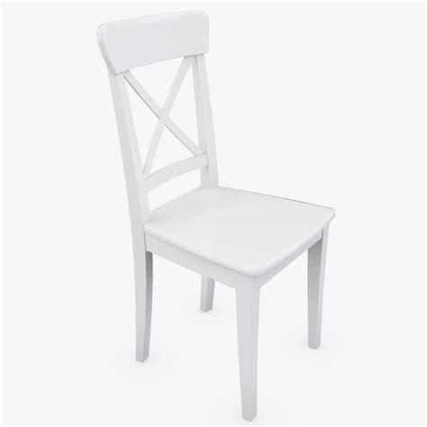 ikea ingolf bench 3d realistic ikea ingolf white