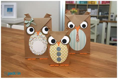 Crafts Using Paper Bags - paper owl craft paper crafts