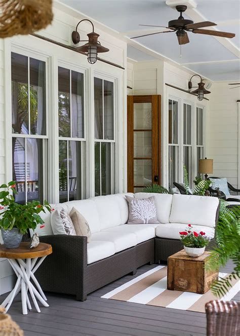 screened  roofed  porch decor ideas shelterness