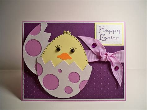 easter card card creations more by c easter card purple