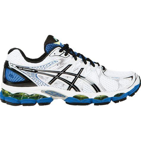 asics gel nimbus 16 mens 2e wide running shoe white black