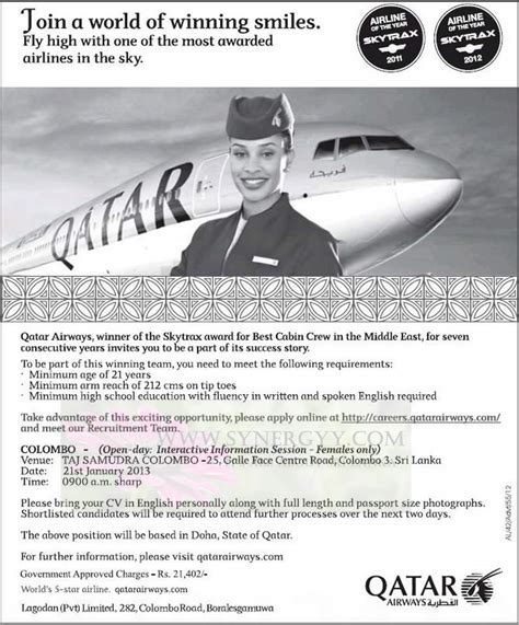 Qatar Airways Cabin Crew Portal by Pin Cabin Crew Cover Letter Aplication For Ajilbabcom