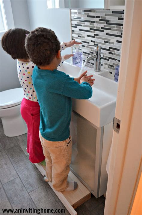 childrens bathroom stool remodelaholic modern bathroom update