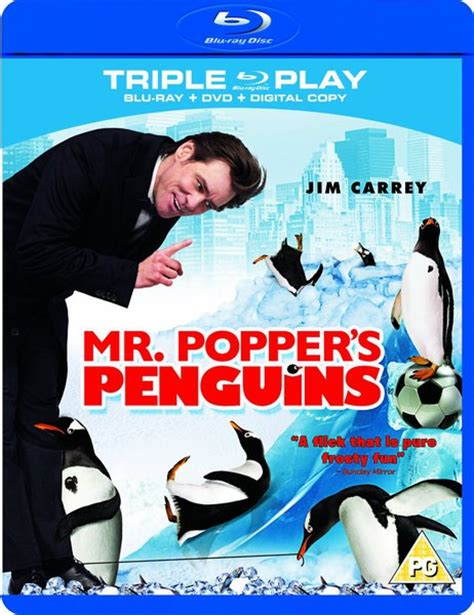 libro mr poppers penguins mr poppers penguins triple play blu ray dvd en digital copy zavvi nl