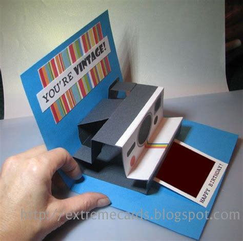 polaroid pop up birthday card with printable template polaroid pop up birthday card so clever cards