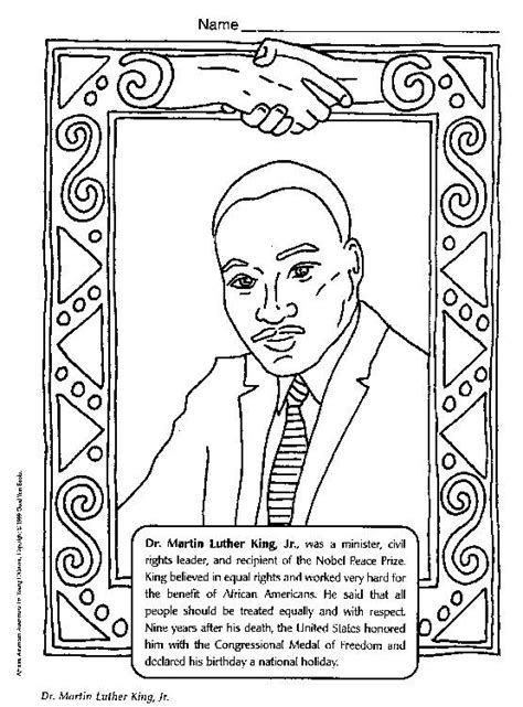 free coloring pages of martin luther king jr