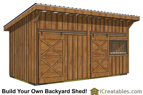 Make Your Own Shed Kits by Run In Shed Plans Building Your Own Barn Icreatables