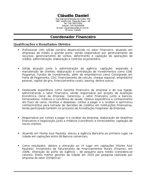 Modelo Curriculum Para España Curr 237 Culo Cl 225 Udio Daniel