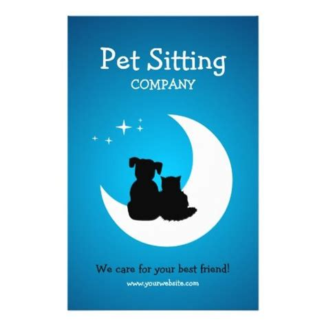 pet sitter business cards templates 50 best images about pet sitting business cards on