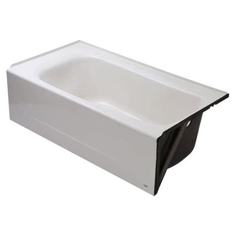 american standard americast bathtub american standard cambridge 5 ft americast right hand drain bathtub in white 2461 002