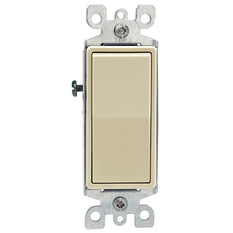 leviton electrical switches leviton decora decora rocker switch 3 way 15a 120v in light almond the home depot canada