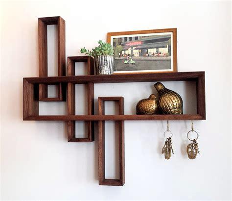 modern wall shelf entryway organizer mid century modern by brassandbark