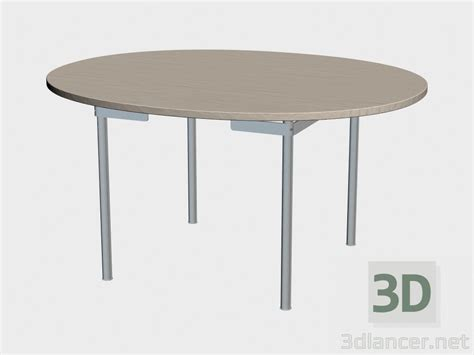 Dining Table Models 3d Model Dining Table Ch334 Manufacturer Carl Hansen Id 18460