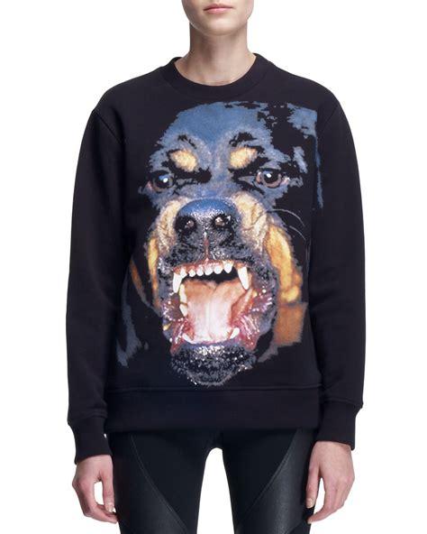 givenchy rottweiler sweatshirt givenchy rottweiler crew sweatshirt in black lyst
