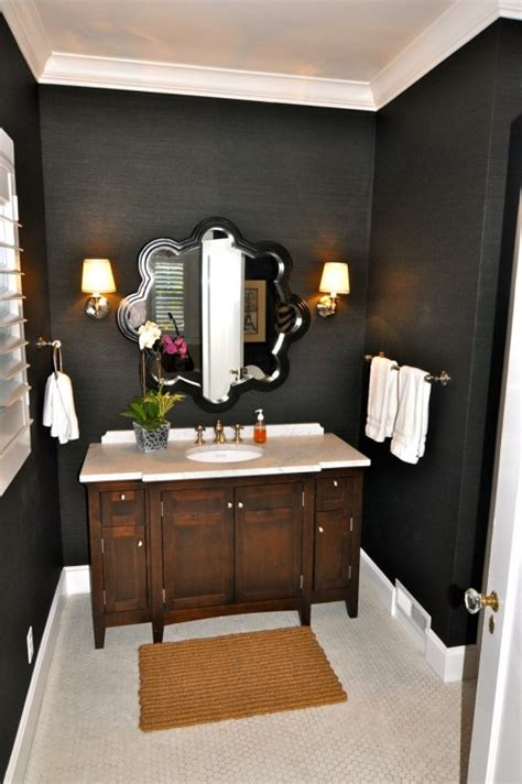dark colored bathrooms projects to try on pinterest space saving futon bunk