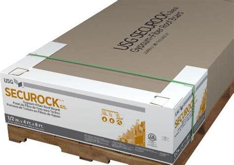 Securock Glass Mat Roof Board by 1 2 In X 4 Ft X 8 Ft Usg Securock Glass Mat Roof Board At