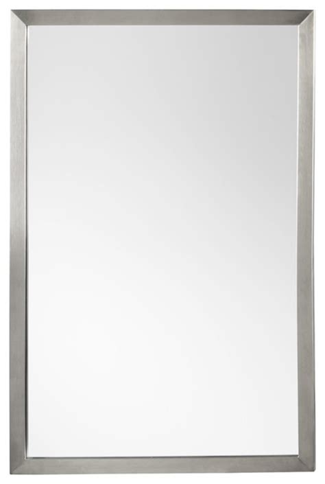 Brushed Nickel Framed Bathroom Mirror by Ronbow Metal Framed Bathroom Mirror Brushed Nickel 23 Quot X34 Quot