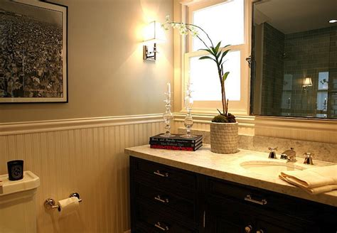 beadboard bathroom walls design ideas