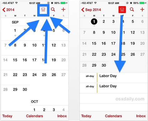 Iphone Calendar List View Access The Calendar List View For Specific Dates On Iphone