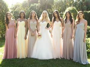 wedding dresses in different colors the individuality of bridesmaid dresses choice productions