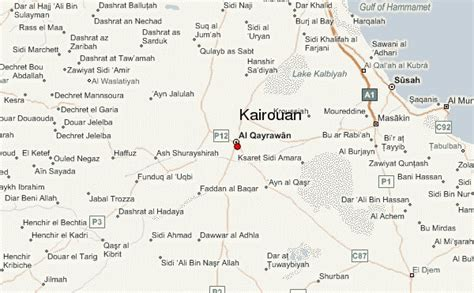kairouan map kairouan location guide