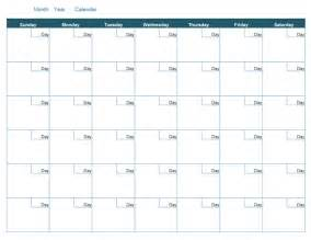 Blank Calendar Month Template by Blank Monthly Calendar Office Templates