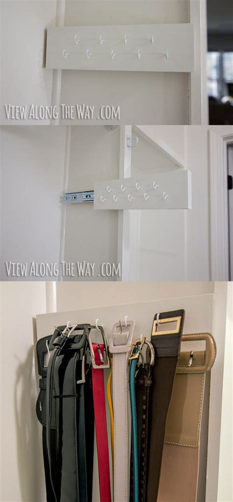 belt organizer for closet girly glam closet makeover reveal view along the way