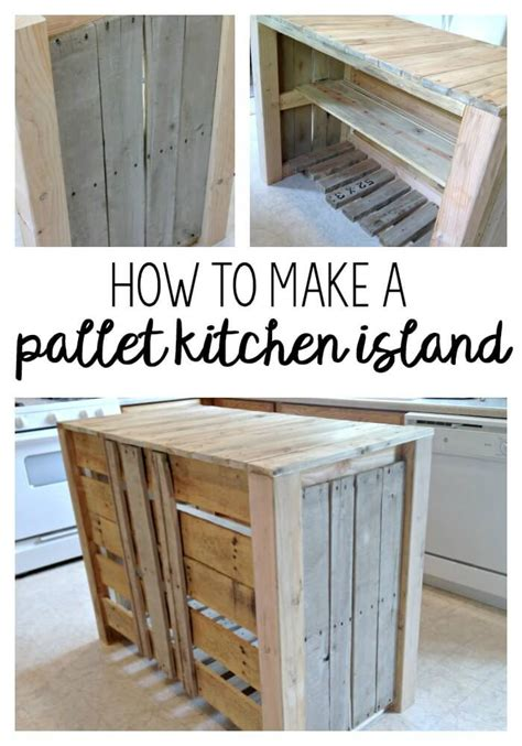 diy pallet kitchen island for less than 50 noting grace