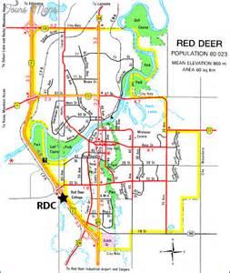 deer map edmonton map travel vacations