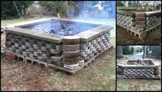 Diy Backyard Fire Pits Build A Fire Pit From Cement Landscape Blocks Diy