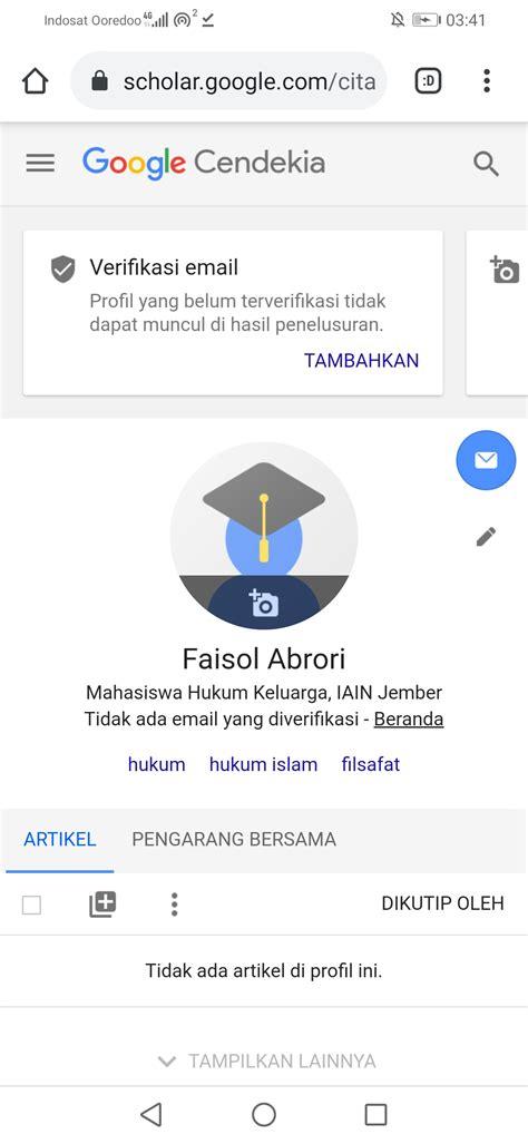 dunia faisol  mudah membuat akun google scholar