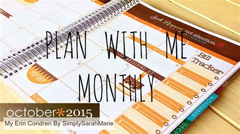 new youtube layout october 2015 plan with me my erin condren october monthly layout youtube