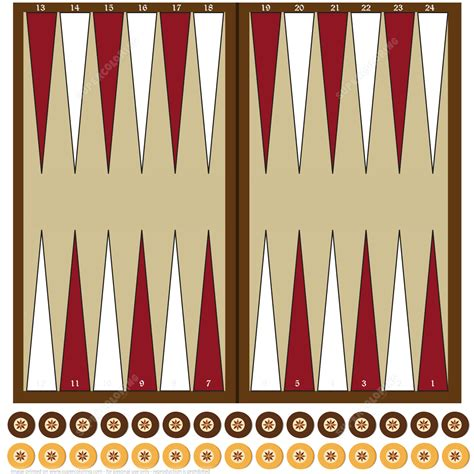 board template printable paper backgammon board with chips free