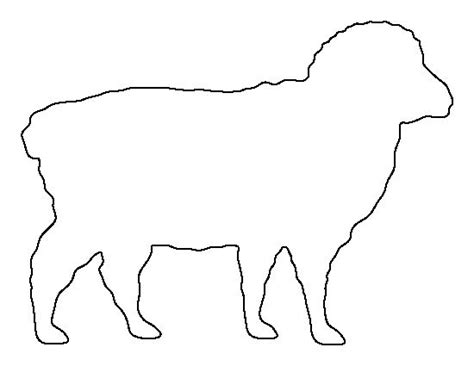 sheep pattern use the printable outline for crafts