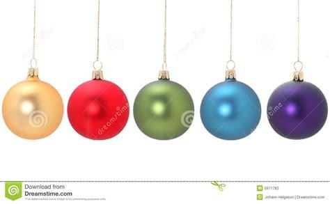 imagenes navidad bolas cinco bolas de la navidad fotos de archivo imagen 5971783