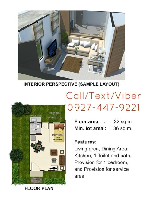 One Bedroom House Floor Plans Lumina Homes Plaridel Airene Rowhouse Affordable House And