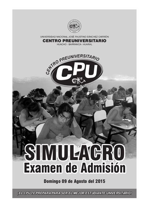 resultados del examen de admision san marcos 2016 ll resultados examen simulacro de admision 2015 1 universidad