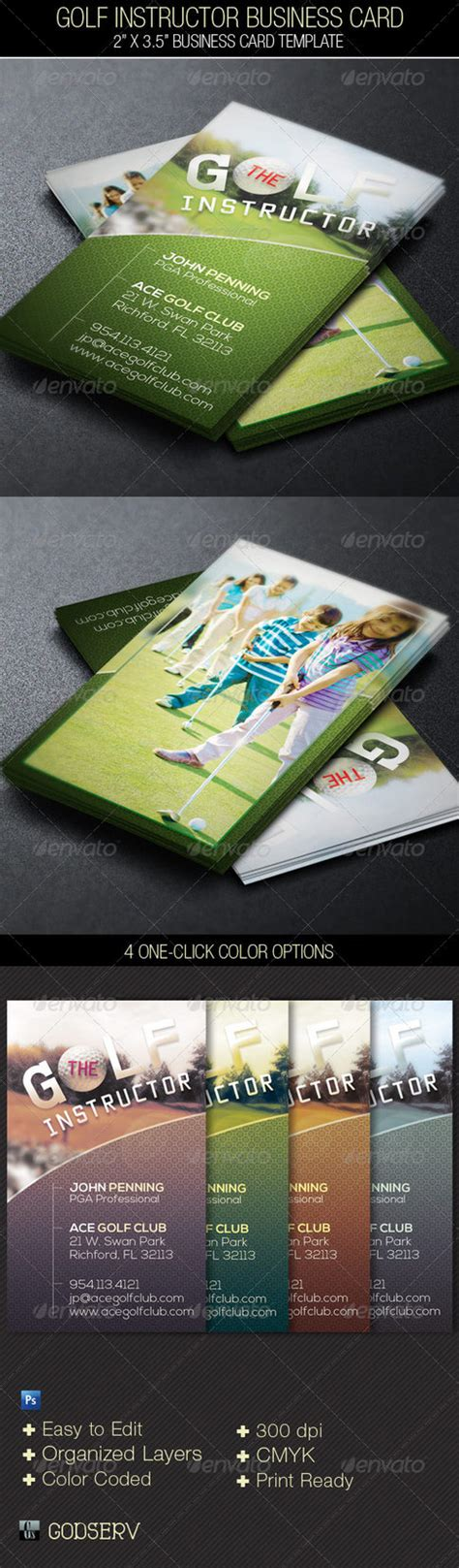 golf membership card template golf instructor business card template by godserv on