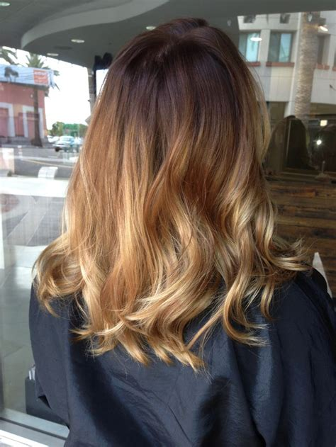 how to do an ombre with medium length hair balayage ombr 233 on shoulder length hair ombr 233 by briza