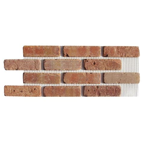 Home Depot Brick Tile mill brick dixie clay brickweb thin brick flats bw 37004cs the home depot