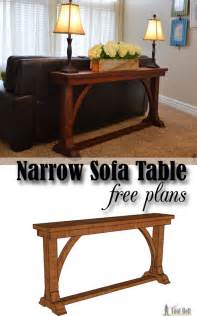 narrow sofa table tool belt