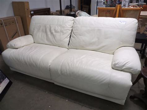 all leather reclining sofas white all leather electric reclining sofa able auctions